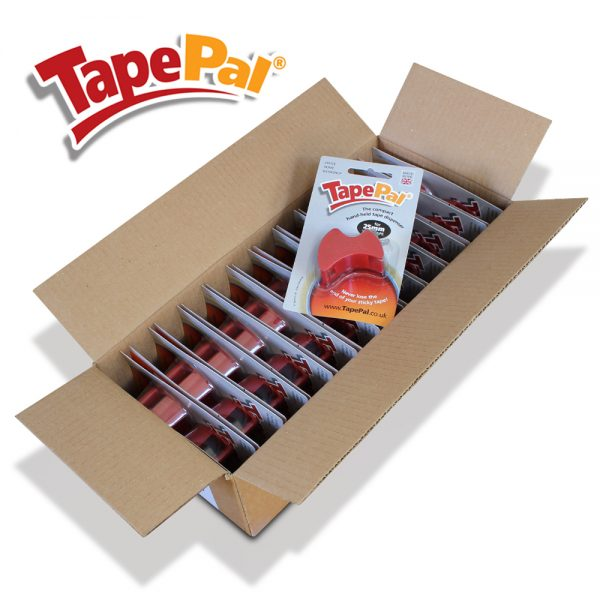 carton of 24 red tape dispensers