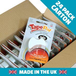 Carton of Polar White tape dispensers