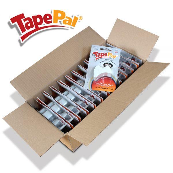 carton of 24 white tape dispensers